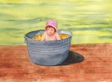 Mom in Old Tub