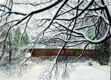 Covered Bridge in Winter