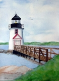 Lighthouse Over Bridge