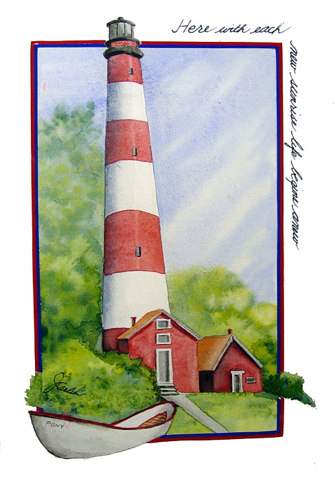 The Assateague Lighthouse
