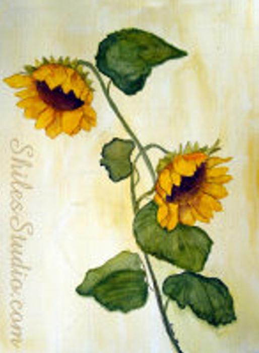 Antique Sunflowers