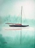 Red Sail At Dawn