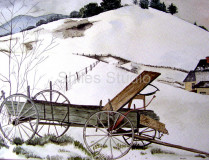 Wagon in Snow