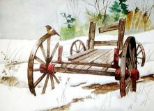 Wagon with Bird