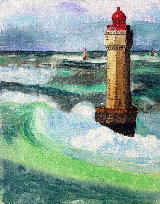Lighthouse On Canvas
