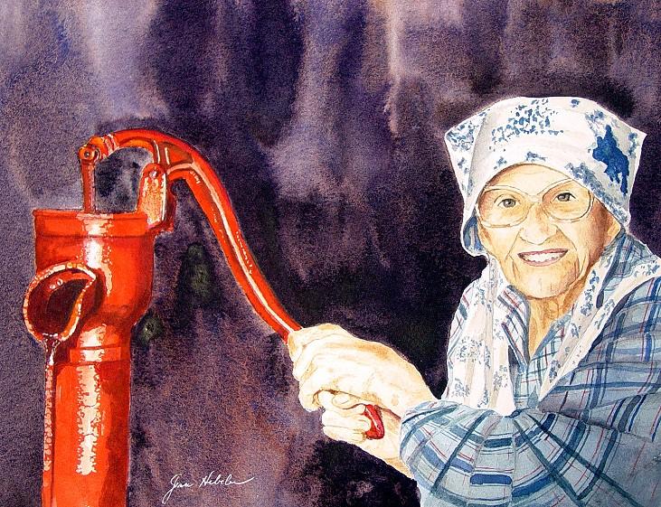 Grandma At The Pump