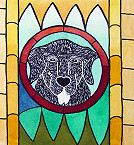 Dog Stained Glass