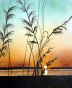 Sunset And Sea Grass