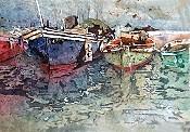 Boats In Harbor Batk