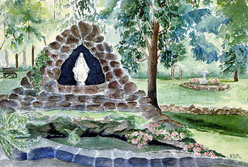 Grotto At Sacred Heart
