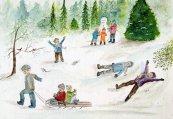 rm grandkids in snow
