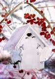Birdhouse In Winter