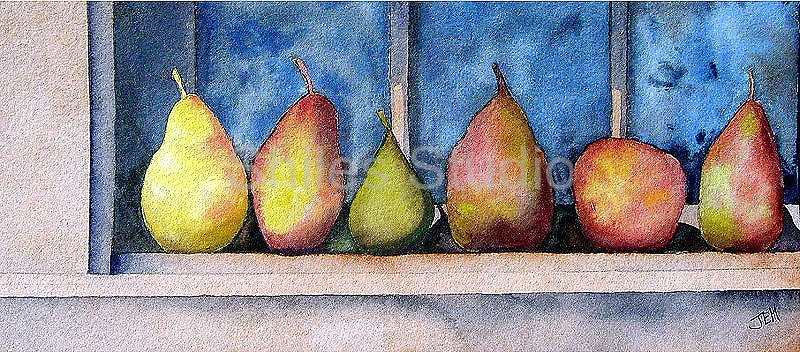 Pears On Shelf