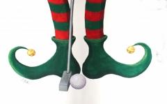Christmas Golfer