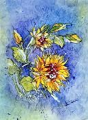 Sunflowers Batik
