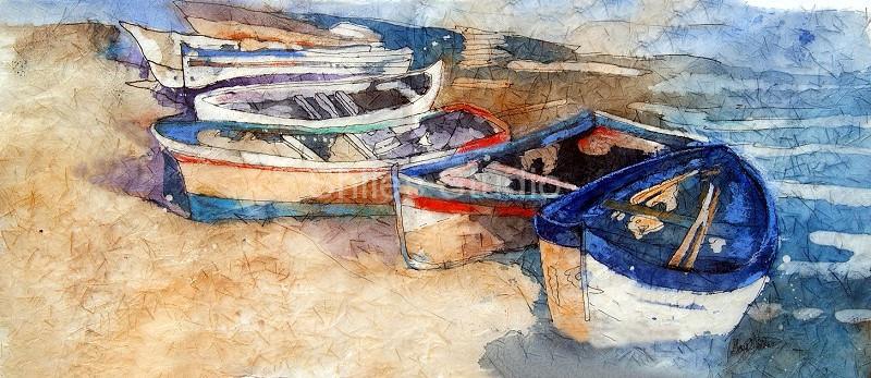 Italian Boats Batik