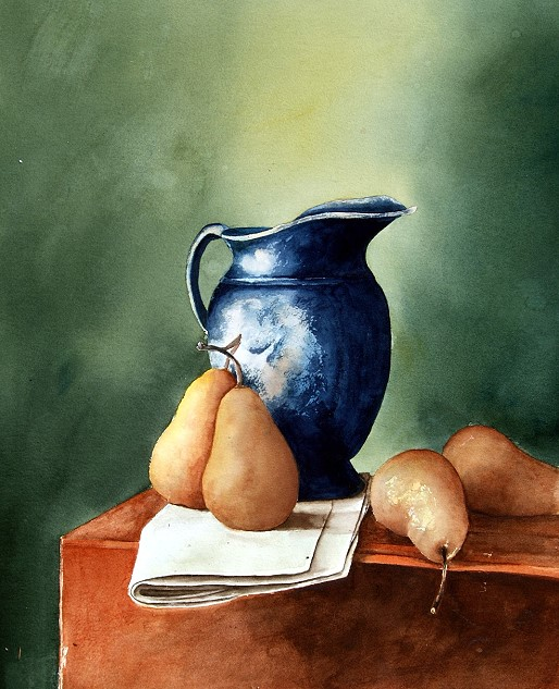 Blue Pot W Pearst